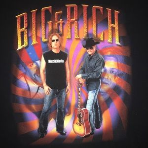 BIG AND RICH COUNTRY ROCK TOUR BAND T SHIRT